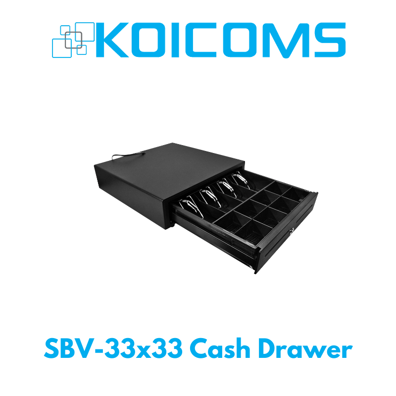 SBV-33x33 Compact Cash Drawer - Black